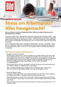 Stress am Arbeitsplatz? Alles hausgemacht!