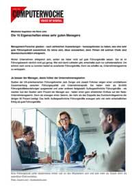 Die 16 Eigenschaften eines sehr guten Managers