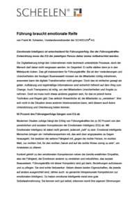 Führung braucht emotionale Reife